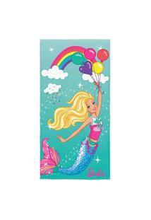 Toalha De Banho Infantil Barbie Reinos Mágicos Lepper 1 Peça