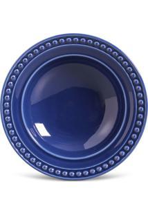 Jogo De Pratos Fundos Porto Brasil 6 Peã§As Atenas Azul-Marinho - Azul - Dafiti