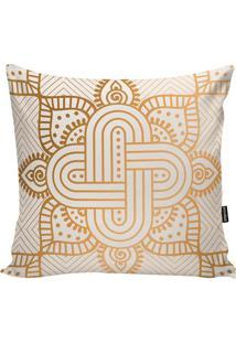Capa Para Almofada Arabescos- Dourada & Branca- 45X4Stm Home