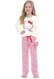 Pijama Hello Kitty Adulto Bege