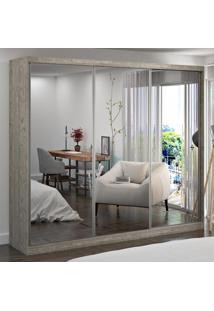 Guarda-Roupa Casal 3 Portas Com 3 Espelhos 100% Mdf 1905E3 Demolição - Foscarini