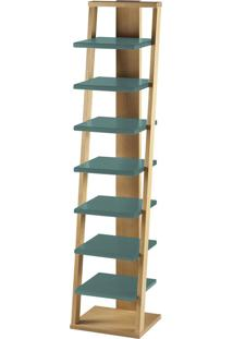 Prateleira Suspensa Stairway 1132 Palha/Azul Claro - Maxima