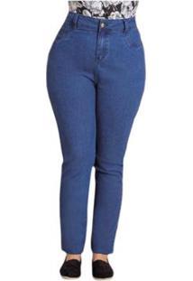6c731a528 ... Calça Jeans Skinny Quintess Plus Size - Feminino-Jeans Claro