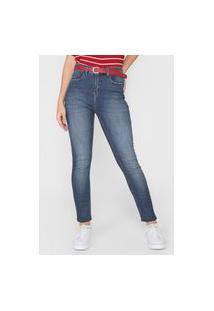 Calça Jeans Cantão Skinny Push Up Comfort Azul