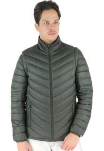 Jaqueta Masculina 2 Em 1 (Jaqueta E Colete) De Pluma Ultralight Alpine - Masculino-Verde Escuro