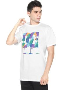 Camiseta Dc Shoes Painted Rock Branca