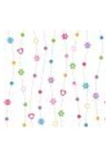 Papel De Parede Adesivo - Flores E Corações - 913Ppi