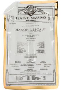 Fornasetti Bandeja Locandina Manon Lescault - Branco