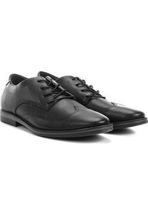Sapato Social West Coast Dallas Amarração Masculino - Masculino-Preto