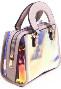 Bolsa Paul Ryan Neon Bege Acinzentado E Translúcido Colorido - Pr2001