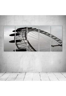 Quadro Decorativo - London Eye - Composto De 5 Quadros - Multicolorido - Dafiti