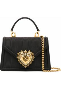 Dolce & Gabbana Bolsa Tote Devotion Mini - Preto