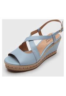 Sandália Bottero Tiras Azul
