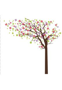 Adesivo De Parede Balihai Stickers 130X103 Spring Multicolorido
