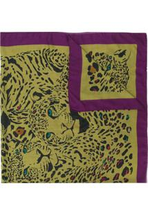 Etro Echarpe Animal Print - Verde