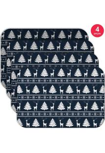 Jogo Americano Love Decor Wevans Premium Natal Kit Com 4 Pçs