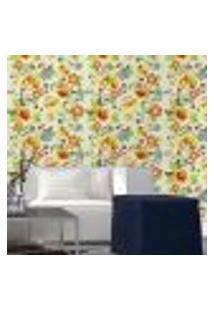 Papel De Parede Autocolante Rolo 0,58 X 3M - Floral 1309
