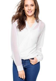 Camisa Manga Longa Malwee Brilho Branca