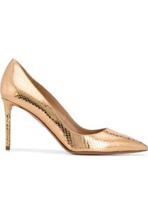 Aquazzura Sapato Purist Com Salto 85Mm - Dourado