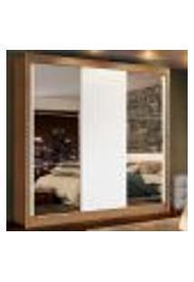 Guarda-Roupa Casal Madesa Lyon Plus 3 Portas De Correr Com Espelhos 4 Gavetas