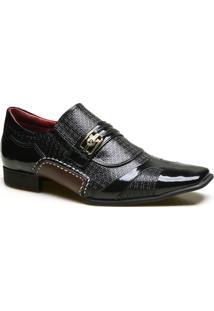 Sapato Social Em Couro Com Textura Chicago Calvest - Masculino