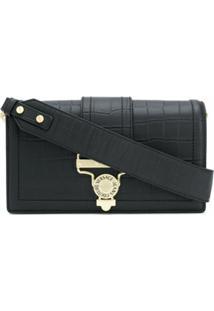 Versace Jeans Couture Bolsa Tiracolo Com Fivela - Preto