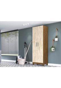 Armário Multiuso 2 Portas New Iris Castanho Wood/Avelã-Lc Móveis