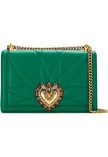 Dolce & Gabbana Bolsa Tiracolo 'Devotion' De Couro - Verde