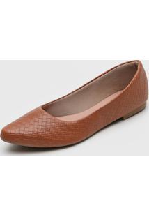 Sapatilha Dafiti Shoes Textura Caramelo