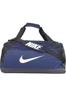 Mala Nike Brasília Média - Unissex-Azul+Preto