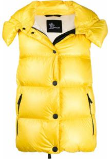 Moncler Grenoble Colete Matelassê Com Botões - Amarelo