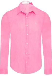 Camisa Masculina Sarjada - Rosa