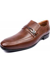 Sapato Social Shoes Grand Couro Siena Tabaco
