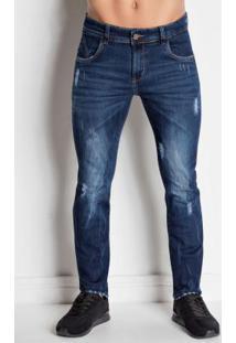 Calça Jeans Sawary Com Bolso Lateral