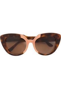 cb9c49cbc1760 Farfetch. Óculos De Sol De Sol Feminino Marrom Kj Haste Marni - Eyewear    ...