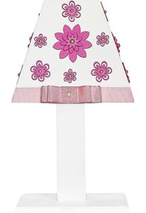 Abajur Margarida Mdf - Rosa - Floral