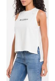 Blusa Ckj Fem S/M Be Lonely - Off White - Pp