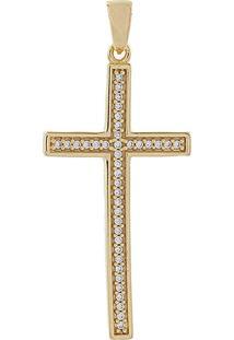 Pingente Narcizza Semijoias Cruz Cravejada Com Micro Zircônia Cristal