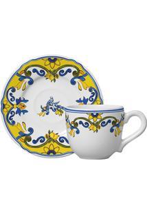 Xícara De Café De Cerâmica Reto Limone Scalla 6 Peças 100Ml - 23875