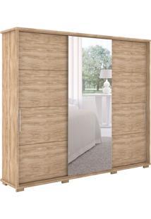 Guarda-Roupa Casal Com Espelho New Fortuno 3 Pt 6 Gv Cedro