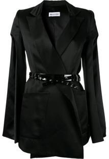 Maticevski Slit Sleeves Belted Blazer - Preto