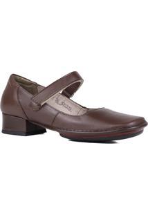 Sapato Scarpin J.Gean Salto Grosso Bico Quadrado