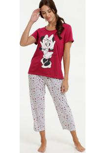 Pijama Feminino Estampa Minnie Disney