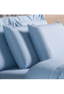 Fronha Basic Algodão Azul 50X70