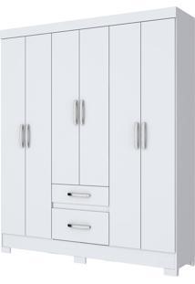 Guarda-Roupa 6 Portas Henn Briz B22-10 Branco Se