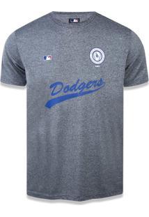 T-Shirt New Era Performance Los Angeles Dodgers Mescla Grafite
