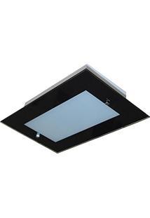 Plafon Para Cozinha (Ideal Para Pequenos Ambientes) 35Cm X 22Cm - Preto