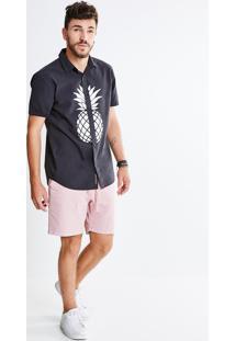 Camisa Estampa Abacaxi