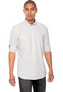 Camisa Timberland Chambray Bege