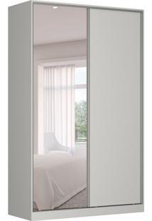 Guarda-Roupa Solteiro Com Espelho Tunas V 2 Pt 3 Gv Branco